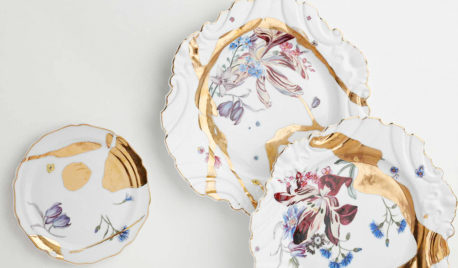 Jeffrey Bilhuber teams with de Gournay to launch a porcelain collection with a touch of gold