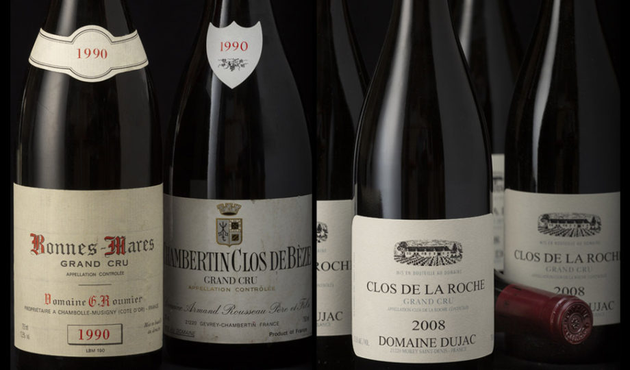 Bordeaux and Burgundy wines among preferred at Bonhams recent auction