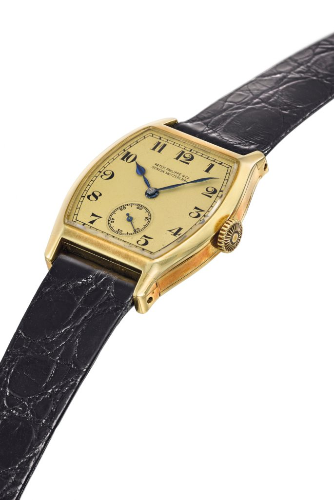 Christie's sold a Patek Philippe Henry Graves Jr.'s yellow gold tonneau watch from 1927 for $4.5 Million